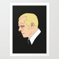 hot fuzz Art Prints featuring Simon Pegg - Hot Fuzz. by Tomcert
