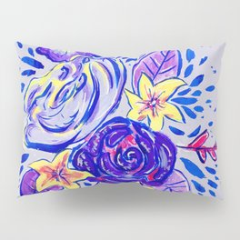 Purple florals Pillow Sham