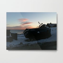 Boat at Lower Largo Metal Print