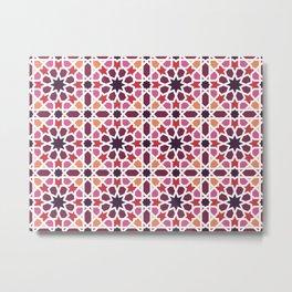 Arabic tiles A7 Metal Print