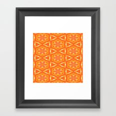 Orange and Yellow Stars and Hearts 9055 Framed Art Print
