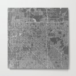 North Phoenix USA Modern Map Art Print Metal Print