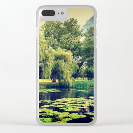 Zen Meditation Lily Pond Clear iPhone Case
