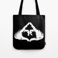 feminism Tote Bags featuring Feminism by Revolve Production