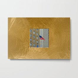 Americana - Stars and Stripes - Manhatten - NYC Metal Print