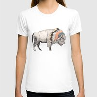 vector T-shirts featuring White Bison by Sandra Dieckmann
