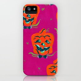 Purple Happy Jacks iPhone Case