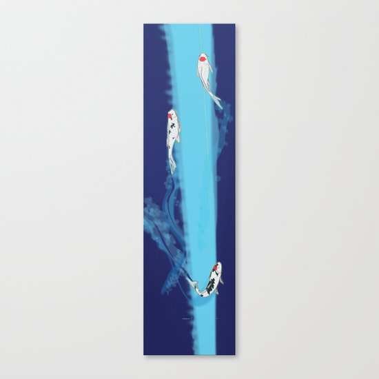 Speeding Koi Canvas Print