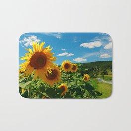 Sunflowers In Sunflower Field Bath Mat