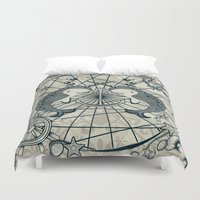 narwhal Duvet Covers featuring Narwhal by AmKiLi