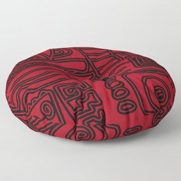 Africa Red Floor Pillow