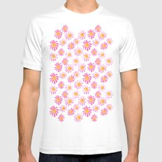 Daisy Mens Fitted Tee MEDIUM White