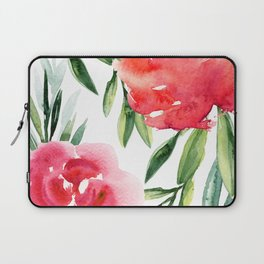 Bright Flowers with Green Leaves Laptop Sleeve