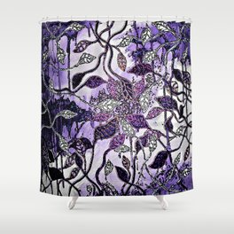 Interlaced Leaves Shower Curtain