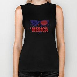 America 4th July Biker Tank
