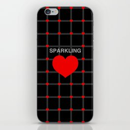 Sparkling Heart iPhone Skin
