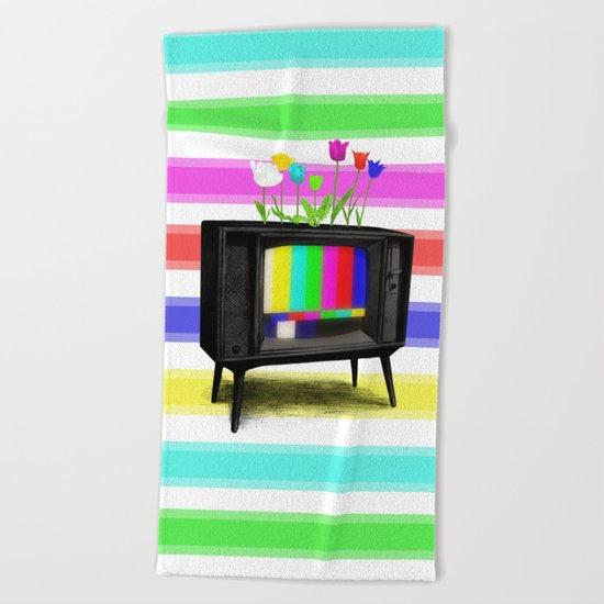 Test Garden Beach Towel