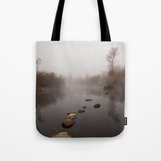 Clear Creek Fog Tote Bag