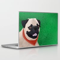 pug Laptop & iPad Skins featuring Pug by Nir P