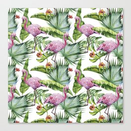 Flamingo Jungle #society6 #buyart Canvas Print