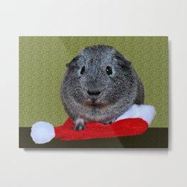 Guinea Pig Christmas Metal Print