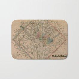 Vintage Washington DC Civil War Defenses Map (1864) Bath Mat