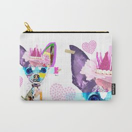 Colorful Dog Art Chihuahua Carry-All Pouch