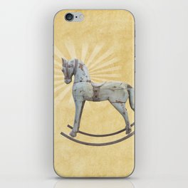 Vintage rocking horse - Toy Photography #Society6 iPhone Skin
