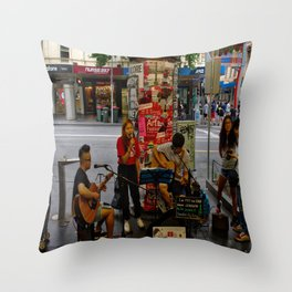 Buskers In Melbourne Throw Pillow