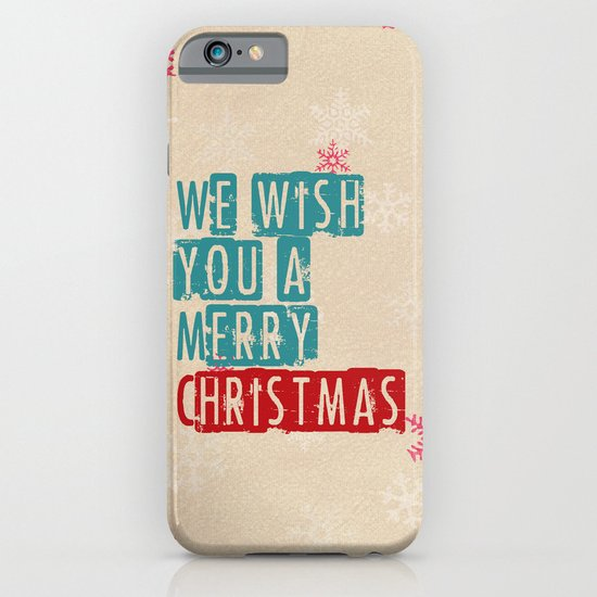 we wish you a merry christmas iPhone & iPod Case