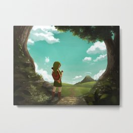 [Ocarina of Time] The Outset of a Journey Metal Print