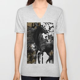 HORSE AND THUNDER Unisex V-Neck
