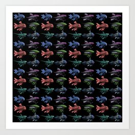 Robot Fish Pattern Art Print