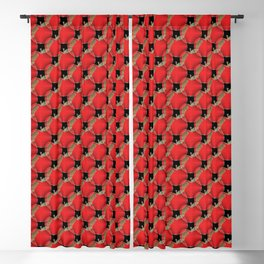 Red apple pattern Blackout Curtain