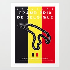 My F1 FRANCORCHAMPS Race Track Minimal Poster Art Print