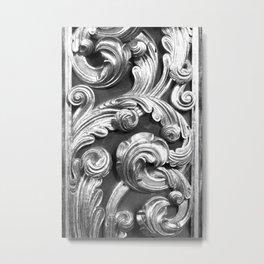 Decorative metalic foliage ornaments Metal Print