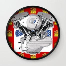 Old School Portuguese Biker Wall Clock