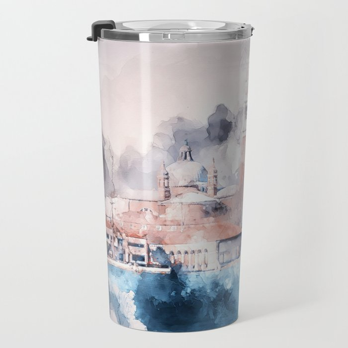 Venezia watercolour Travel Mug