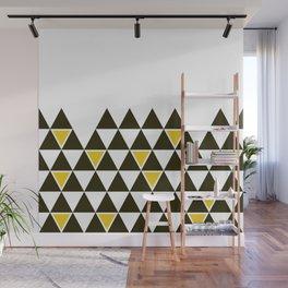 geometria TRI black yellow Wall Mural