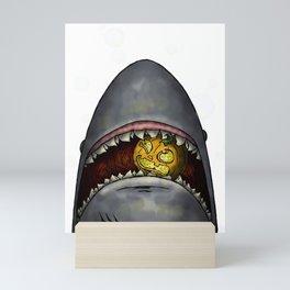 Pumpkin Shark Mini Art Print