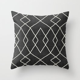 Brook in Black and White Throw Pillow