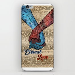 Holding Hands,Eternal Love,Space Dictionary Art iPhone Skin