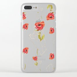 Poppy - Gold (Gilded Hands Series) Clear iPhone Case