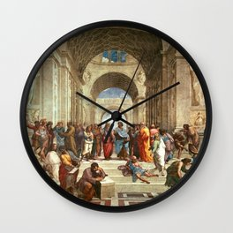 School Of Athens Painting Wall Clock