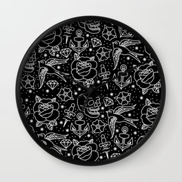 Black flash Wall Clock