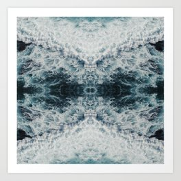 The White Horned Prince Art Print