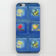 Denim Square Patches iPhone & iPod Skin
