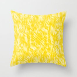 Fascinating smudges of diagonal delicate colors with yellow. Throw Pillow