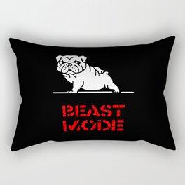Beast Mode English Bulldog Rectangular Pillow