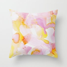 Funfetti in Rose and Buttercup Throw Pillow